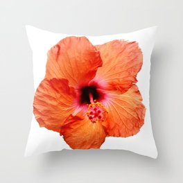 Just the Hibiscus Throw Pillow