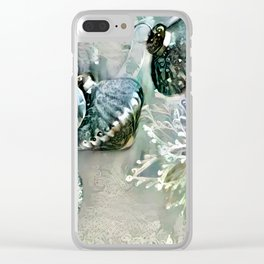 Silver Bells Clear iPhone Case