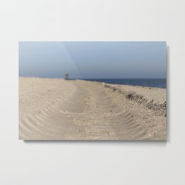 Traces in the sand Metal Print