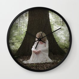 Waiting in the woods Wall Clock