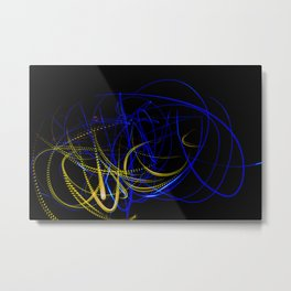 Abstract yellow and blue light effect Metal Print