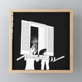 goodnight cigarette Framed Mini Art Print