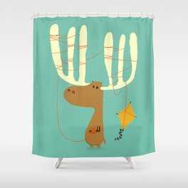 A moose ing Shower Curtain