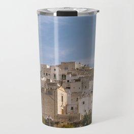 Panoramic view of the medieval white village of Ostuni Travel Mug