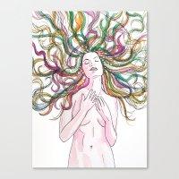 venus Canvas Prints featuring venus by Beth Jorgensen