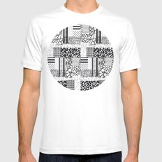 monochrome forover MEDIUM White Mens Fitted Tee