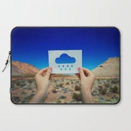 holding rain icon Laptop Sleeve