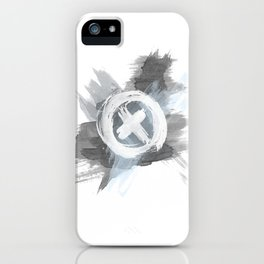 Painted cross iPhone Case