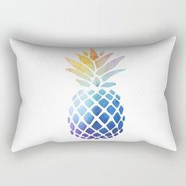 Colorful Watercolor Pineapple Rectangular Pillow