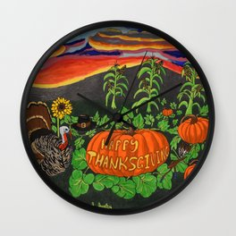 Happy Thanksgiving 2017 Wall Clock