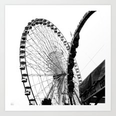 At the Fair: Round and Round Art Print
