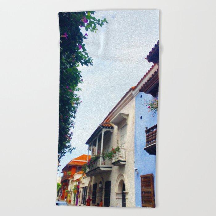 Cartagena Has Stolen My Heart, Mi Corazon Beach Towel