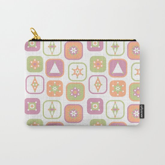 Abstract geometric pattern in pastel colors Carry-All Pouch