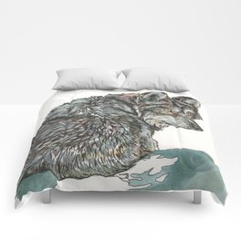 Timber Wolf Comforters