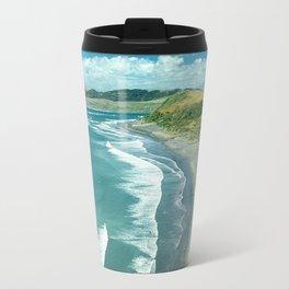Raglan beach, New Zealand Travel Mug