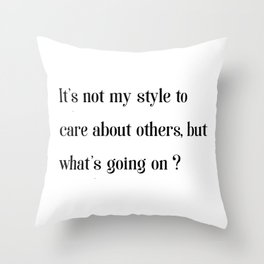 What's going on? - Fishism Collection Throw Pillow