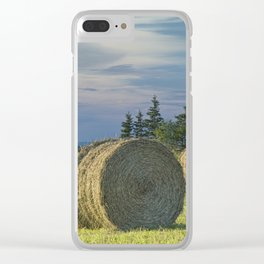 Hay Bales on Prince Edward Island Clear iPhone Case