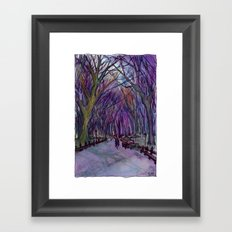 NYC Literary Walk in Purple Framed Art Print