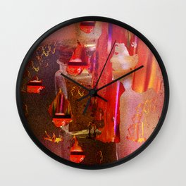What If She Was Looking At The Pepper This Whole Time? Wall Clock