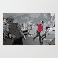 walking dead Area & Throw Rugs featuring The Walking Dead by Steven P Hughes