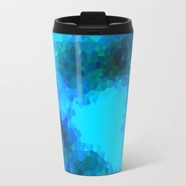 Stained Glass Camo -- Aqua Travel Mug