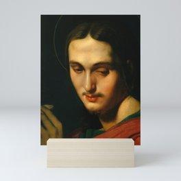 "Jean-Auguste-Dominique Ingres ""Head of Saint John the Evangelist"" Mini Art Print"