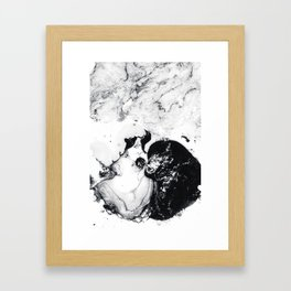 Ink in Milk Black and White liquid Nr.04 Framed Art Print