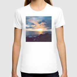 South Pacific French Polynesia Tropical Island Romantic Sunset T-shirt