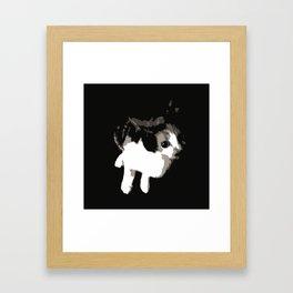 Beware the Demon Cat Framed Art Print