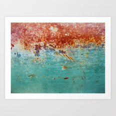 Teal Rust Art Print