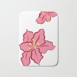 Poinsettia - pink Bath Mat