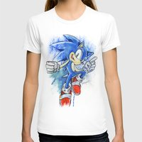 sonic T-shirts featuring Sonic by Luke Jonathon Fielding