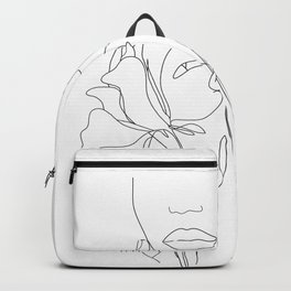 Minimal Line Art Summer Bouquet Backpack