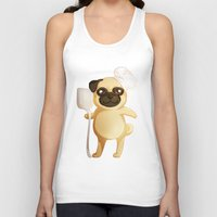 chef Tank Tops featuring Chef Pug by Feeliżanka★