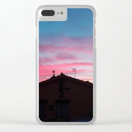 Sunset III Clear iPhone Case