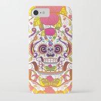sugar skulls iPhone & iPod Cases featuring Sugar Skulls by Spooky Dooky