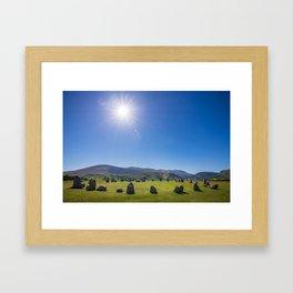 Castlerigg Stone Circle in English Lake District Framed Art Print
