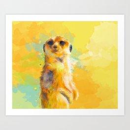 Dear Little Meerkat Art Print