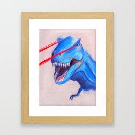 Laser Dino Framed Art Print