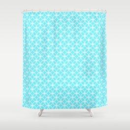 Trellis_Blue Shower Curtain