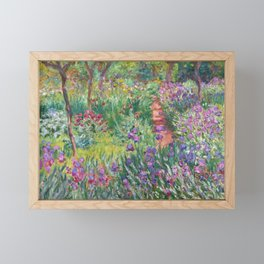The Iris Garden at Giverny by Claude Monet Framed Mini Art Print
