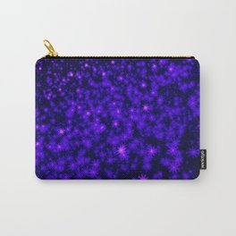 Christmas Blue Purple Night Snowflakes Carry-All Pouch