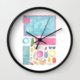 Pool Party! Wall Clock