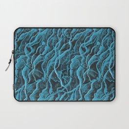 Manta Rays in Crashing Waves Pattern, Turquoise Laptop Sleeve