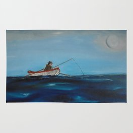 Man Fishing Rug