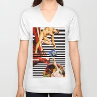 revolution V-neck T-shirts featuring Revolution by Shanelle Hicks