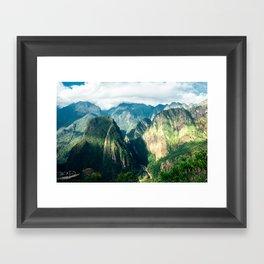 Beside Machu Picchu Framed Art Print