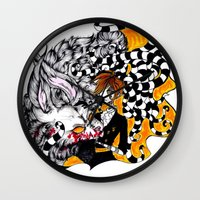 lantern Wall Clocks featuring Lantern by T.I.B ARTWORK