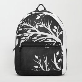 Family Tree Black and White Backpack