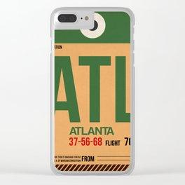 ATL Atlanta Luggage Tag 1 Clear iPhone Case